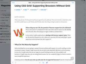 Tiny RSS Reader in iOS