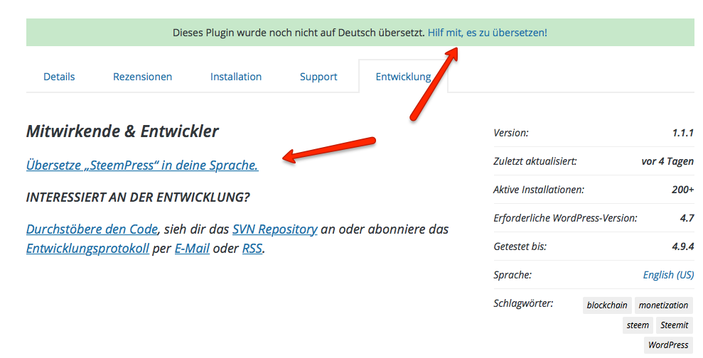 WordPress Plugin übersetzen