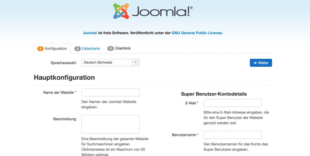 Installation Joomla