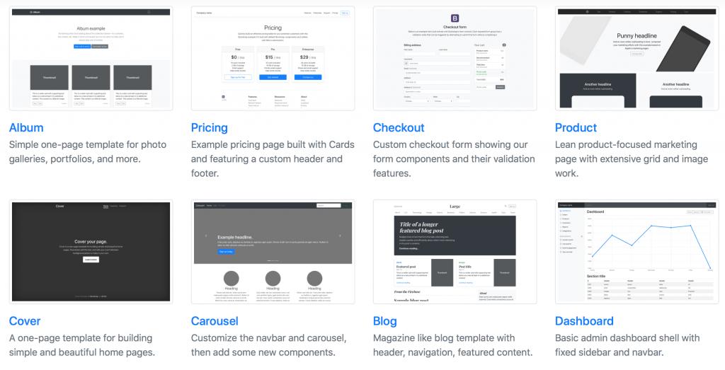 Bootstrap Beispiele