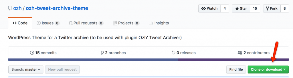 Theme Download bei GitHub