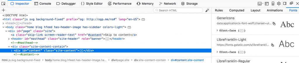 Website im Firefox untersuchen