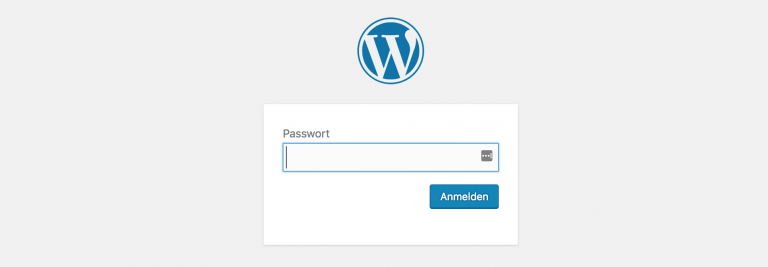 Passwort Protected - WordPress Site