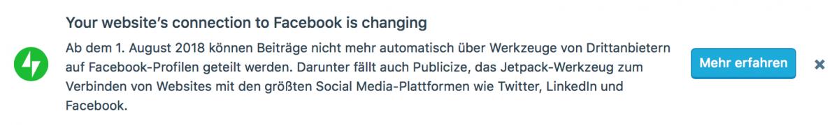 Facebook und das automatisierte Veröffentlichen auf Benutzer Timelines