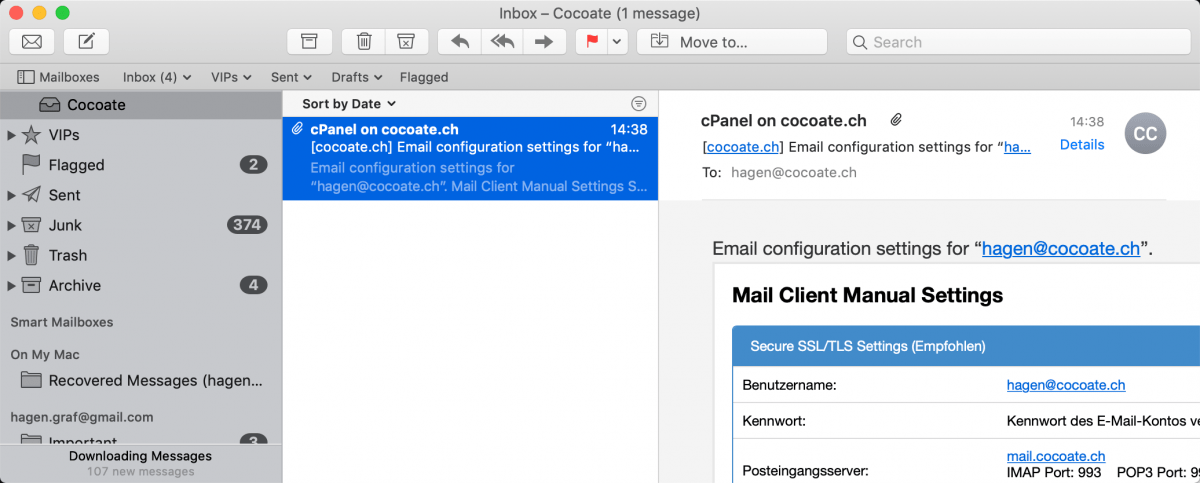 E-Mail einrichten