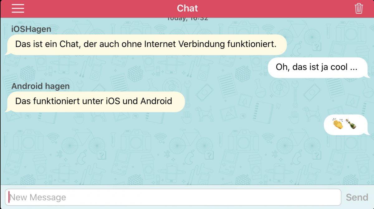 Messenger ohne Internetverbindung