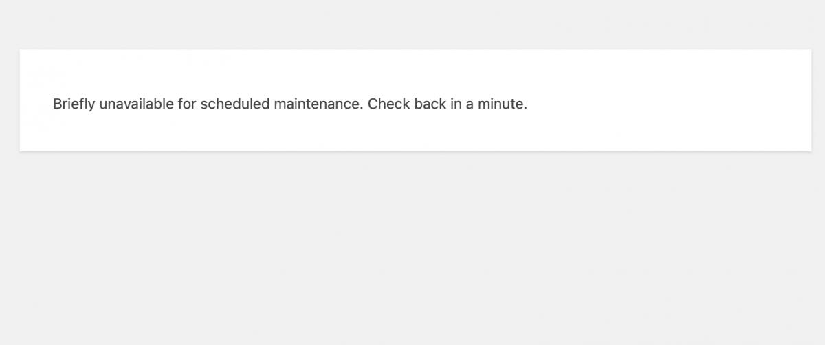 WordPress Update schlägt fehl …
