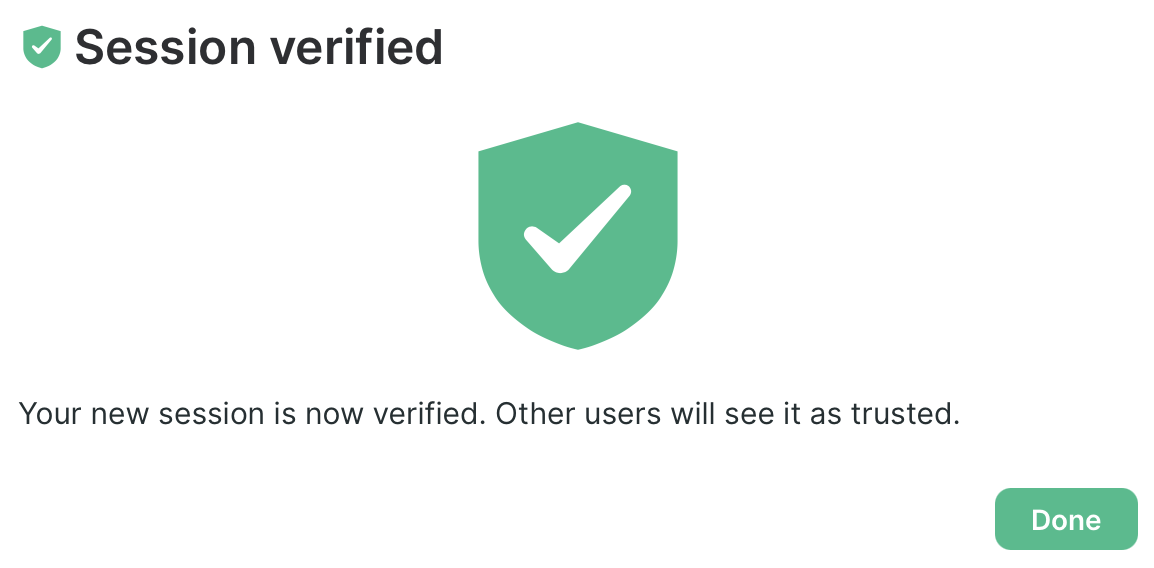 Session verified