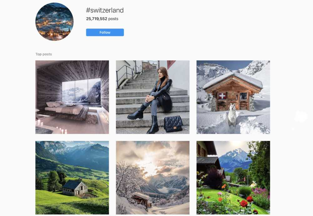 #switzerland auf Instagram